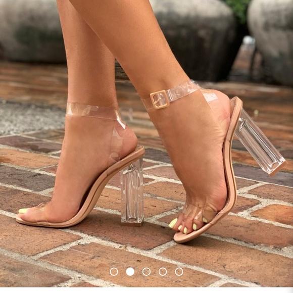 499f3369946 Fashion nova glass slipper transparent heel